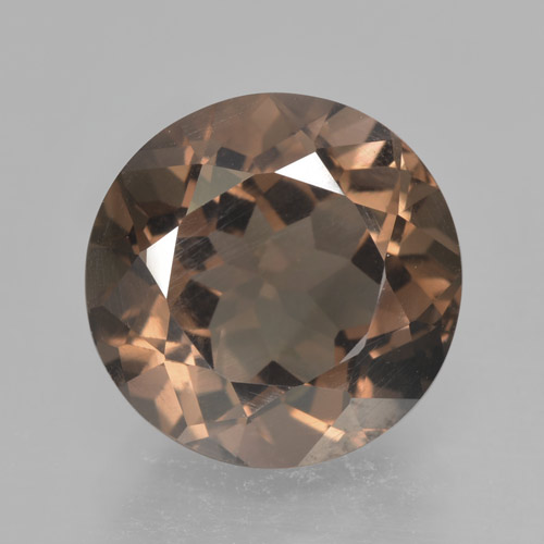 Medium Brown Cuarzo Ahumado Gema - 4.4ct Faceta Redonda (ID: 463913)