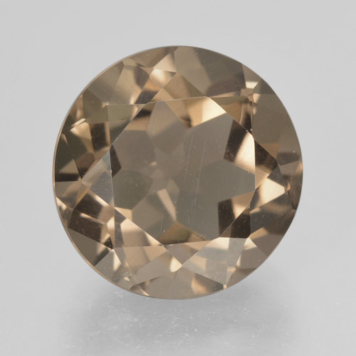 Warm Brown Cuarzo Ahumado Gema - 5.1ct Faceta Redonda (ID: 463975)