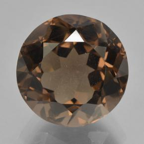 5.7ct Round Facet Brown Smoky Quartz Gem (ID: 464016)