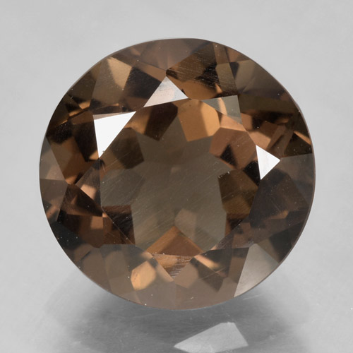 Medium Brown Cuarzo Ahumado Gema - 5.3ct Faceta Redonda (ID: 464019)
