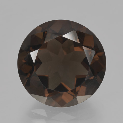 thumb image of 6.1ct Round Facet Brown Smoky Quartz (ID: 464124)
