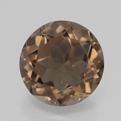 Gingerbread Brown Cuarzo Ahumado Gema - 3.8ct Faceta Redonda (ID: 464157)