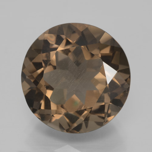 Gingerbread Brown Quarzo fumé Gem - 8.1ct Sfaccettatura rotonda (ID: 465819)