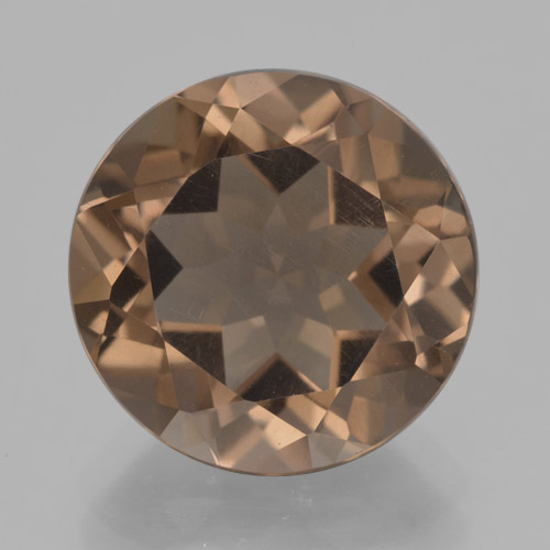Warm Brown Quarzo fumé Gem - 7.1ct Sfaccettatura rotonda (ID: 465962)