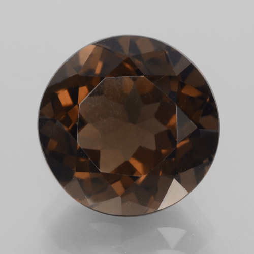 Medium Brown Cuarzo Ahumado Gema - 4.8ct Faceta Redonda (ID: 465984)