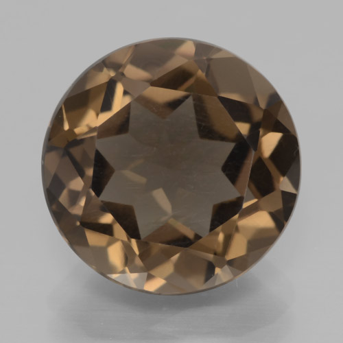 thumb image of 6.8ct Round Facet Brown Smoky Quartz (ID: 466005)