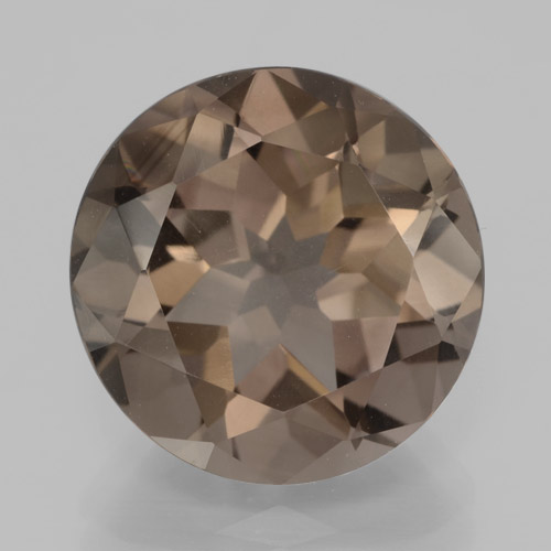 7.83 ct Round Facet Brown Smoky Quartz Gemstone 13.29 mm  (Product ID: 466008)
