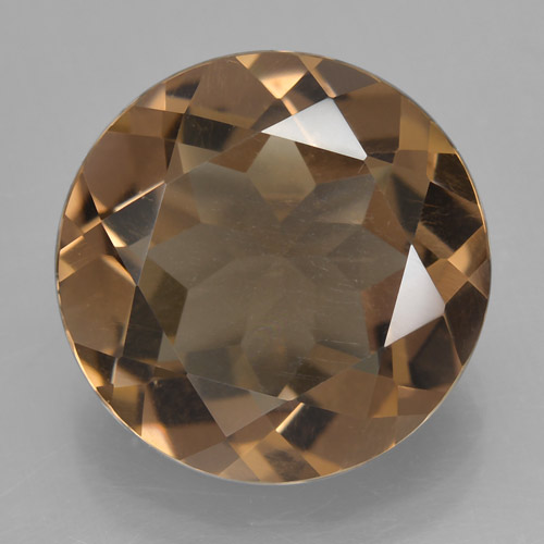 Warm Brown Cuarzo Ahumado Gema - 7.6ct Faceta Redonda (ID: 466181)