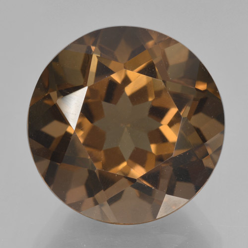 thumb image of 9ct Round Facet Brown Smoky Quartz (ID: 466188)