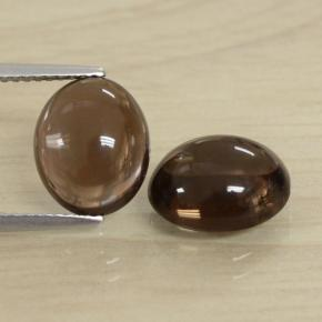 Brown Smoky Quartz Gem - 3.6ct Oval Cabochon (ID: 469337)