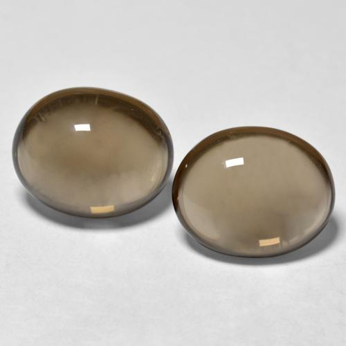 Brown Smoky Quartz Gem - 3.4ct Oval Cabochon (ID: 469338)