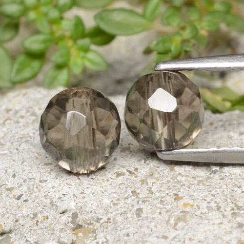Brown Smoky Quartz Gem - 1.4ct Drilled Faceted Sphere (ID: 479143)