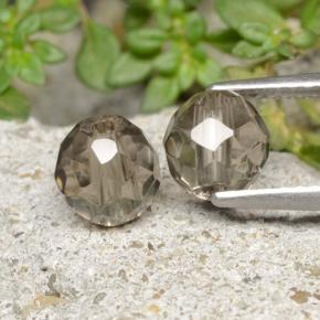 1.4ct Drilled Faceted Sphere Brown Smoky Quartz Gem (ID: 479144)