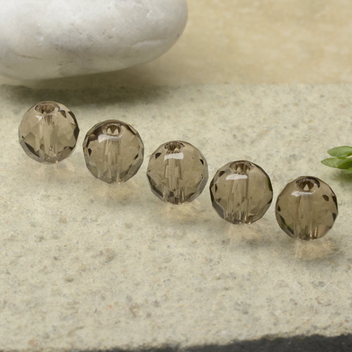 1.5ct Drilled Faceted Sphere Brown Smoky Quartz Gem (ID: 479399)