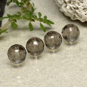 Brown Smoky Quartz Gem - 1.5ct Drilled Faceted Sphere (ID: 479521)
