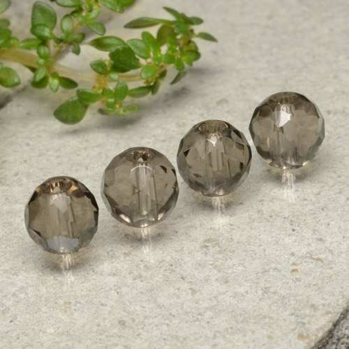 Brown Smoky Quartz Gem - 1.5ct Drilled Faceted Sphere (ID: 479526)