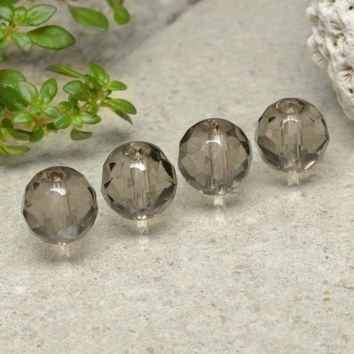 Brown Smoky Quartz Gem - 1.5ct Drilled Faceted Sphere (ID: 479527)