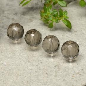 Brown Smoky Quartz Gem - 1.5ct Drilled Faceted Sphere (ID: 479531)