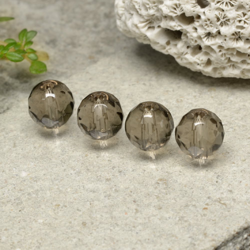 Brown Smoky Quartz Gem - 1.5ct Drilled Faceted Sphere (ID: 479532)