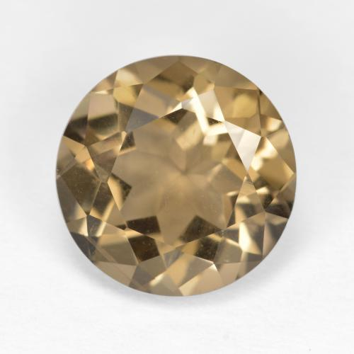 Medium-Light Brown Cuarzo Ahumado Gema - 5.4ct Faceta Redonda (ID: 494817)