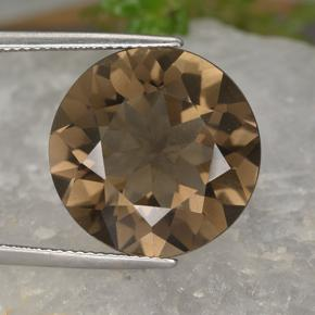 15.4ct Round Facet Brown Smoky Quartz Gem (ID: 497336)