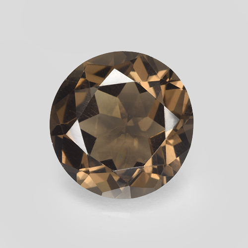 Warm Brown Cuarzo Ahumado Gema - 4.7ct Faceta Redonda (ID: 503804)