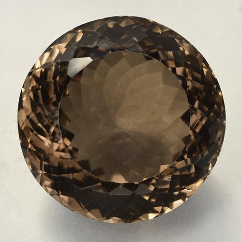 Brown Smoky Quartz Gem - 127.5ct Round Portuguese-Cut (ID: 508823)