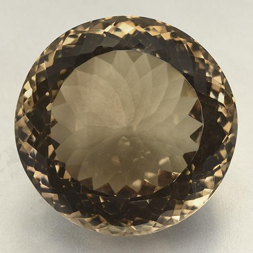 Brown Smoky Quartz Gem - 90.6ct Round Portuguese-Cut (ID: 508824)