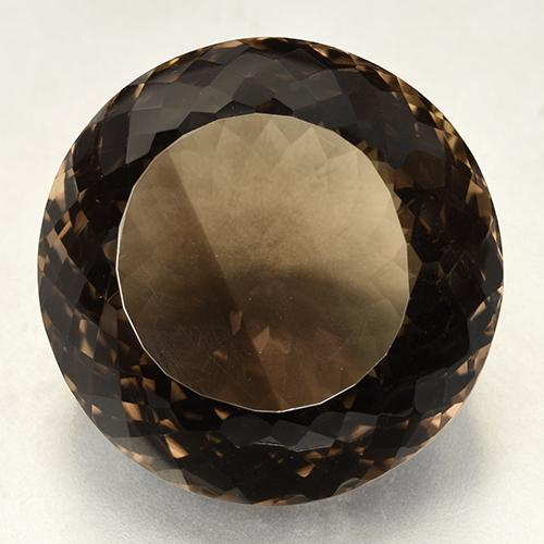 Brown Smoky Quartz Gem - 173.1ct Round Portuguese-Cut (ID: 508827)
