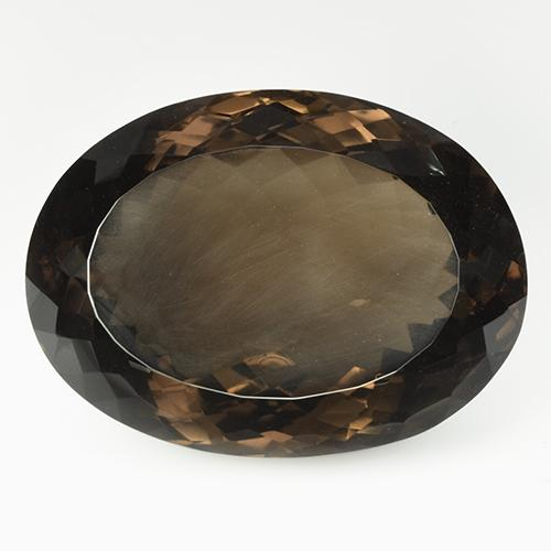 Medium Brown Smoky Quartz Gem - 118.2ct Oval Portuguese-Cut (ID: 508841)
