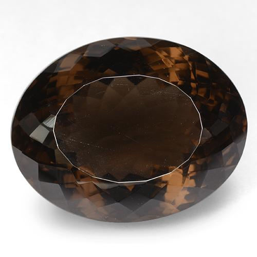 Brown Smoky Quartz Gem - 81ct Oval Portuguese-Cut (ID: 509153)
