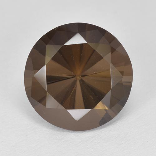 Brown Smoky Quartz Gem - 4.7ct Diamond-Cut (ID: 511982)
