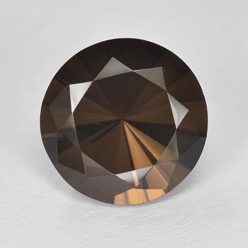 Hickory Brown Cuarzo Ahumado Gema - 5.2ct Corte Diamante (ID: 511983)