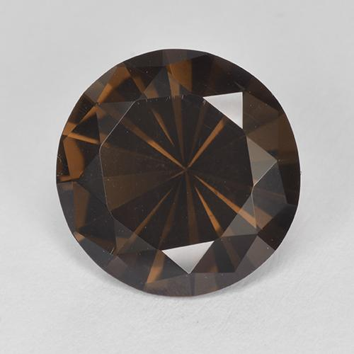 Brown Smoky Quartz Gem - 3.8ct Diamond-Cut (ID: 511984)