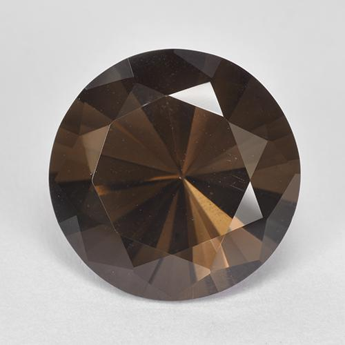 7.51 ct Diamond-Cut Brown Smoky Quartz Gemstone 13.10 mm  (Product ID: 511985)