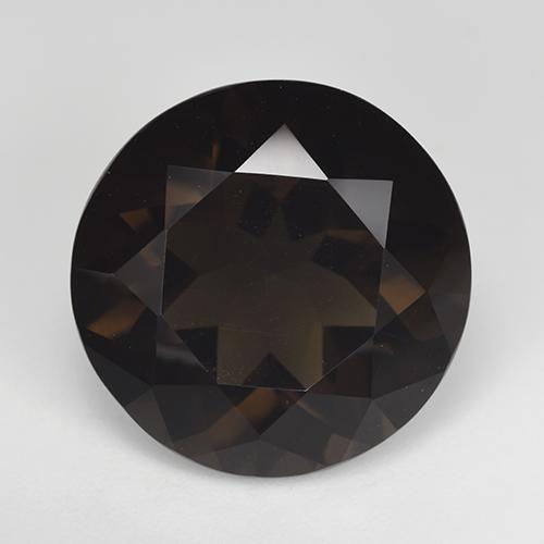 Deep Chocolate Brown Cuarzo Ahumado Gema - 15.2ct Faceta Redonda (ID: 515504)