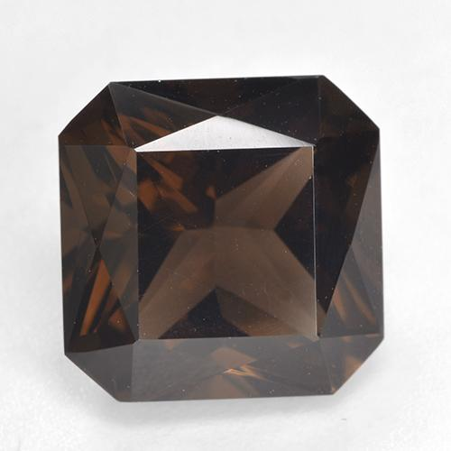 Medium Brown Cuarzo Ahumado Gema - 6.8ct Corte Octágon / Forma de Tijera (ID: 528885)