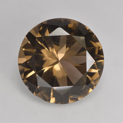 Warm Brown Cuarzo Ahumado Gema - 4.7ct Corte Diamante (ID: 530639)