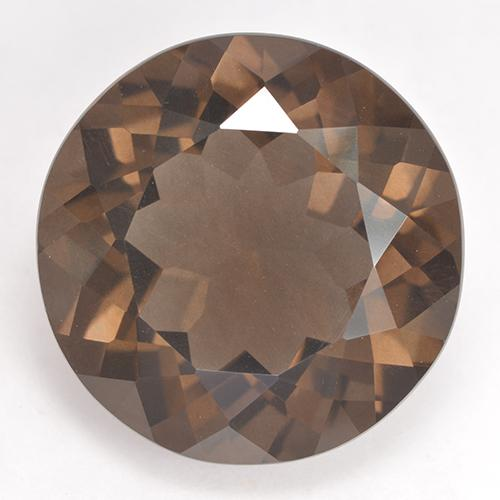 Medium Brown Quartz Fumé gemme - 20.5ct Facette ronde (ID: 530995)