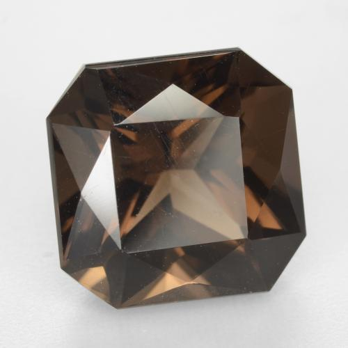 Medium Brown Cuarzo Ahumado Gema - 9.7ct Corte Octágon / Forma de Tijera (ID: 541123)
