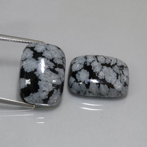 Buy 23.48 ct Black White Snowflake Obsidian 17.87 mm x 13.1 mm from GemSelect (Product ID: 323782)