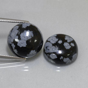 Buy 19.03 ct Snowflake Snowflake Obsidian 14.92 mm  from GemSelect (Product ID: 323783)