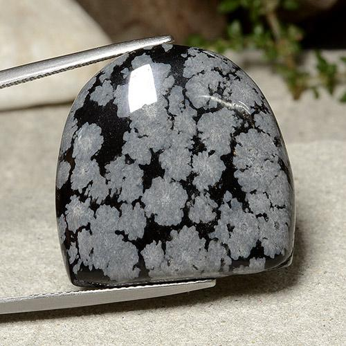 Multicolor Snowflake Obsidian Gem - 37.1ct Fancy Cabochon (ID: 485451)