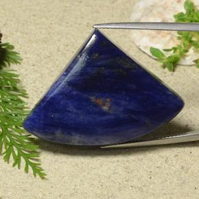 Deep Blue Sodalite Gem - 45.3ct Shark Fin Cabochon (ID: 486694)
