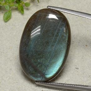 Multicolor Spectrolite Gem - 25.5ct Oval Cabochon (ID: 494240)