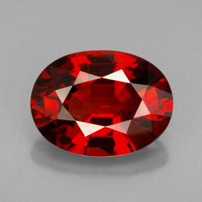 Buy 5.68 ct Orange Red Spessartite Garnet 12.22 mm x 9.2 mm from GemSelect (Product ID: 154554)