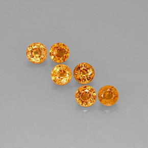 Orange Spessartite Garnet Gem - 0.6ct Round Facet (ID: 173086)