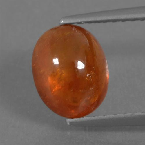 Mandarin Orange Spessartite Garnet Gem - 3.2ct Oval Cabochon (ID: 264385)