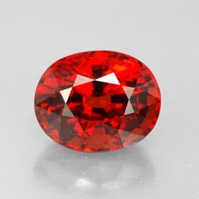Buy 3.18 ct Orange Red Spessartite Garnet 8.82 mm x 7.1 mm from GemSelect (Product ID: 290833)
