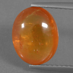 4ct Oval Cabochon Orange Spessartite Garnet Gem (ID: 294862)